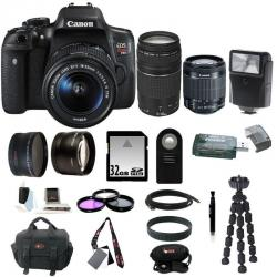 If you are looking Canon EOS Rebel T6i Digital SLR Camera w/ 18-55mm & 75-300mm Lenses + 32GB Kit you can buy to focuscamera, It is on sale at the best price