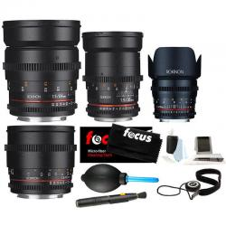 If you are looking ROKINON CINE DS T1.5 Cinema Lens Bundle - 24mm + 35mm + 50mm + 85mm for Canon you can buy to focuscamera, It is on sale at the best price