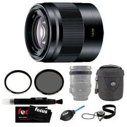 If you are looking Sony SEL50F18B 50mm f/1.8 Lens w/ 49mm CP & UV Filters + Lens Case Pro Kit (B) you can buy to focuscamera, It is on sale at the best price