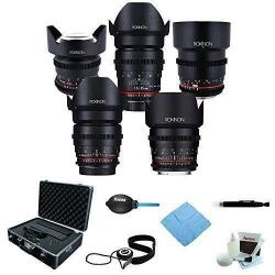 If you are looking ROKINON Cine DS Lens Kit - 50mm + 35mm + 85mm + 24mm + 14mm for Canon + Kit you can buy to focuscamera, It is on sale at the best price
