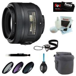 If you are looking Nikon 35mm f/1.8G AF-S DX Lens (2183) + Deluxe Accessory Kit you can buy to focuscamera, It is on sale at the best price
