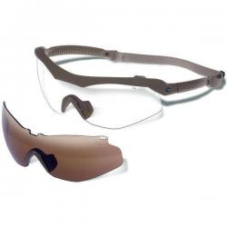 Gargoyles Trench Tactical Sunglasses (Matte Tan Frame/Brown & Clear)