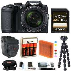 If you are looking Nikon COOLPIX B500 Digital Camera with Sony 16GB Accessory Bundle you can buy to focuscamera, It is on sale at the best price