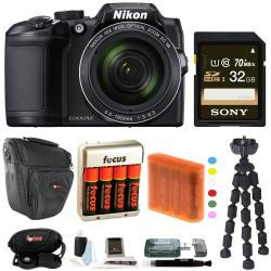 If you are looking Nikon COOLPIX B500 Digital Camera with Sony 32GB Accessory Bundle you can buy to focuscamera, It is on sale at the best price