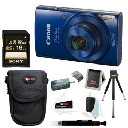 If you are looking Canon PowerShot ELPH 190 IS 20 MP Digital Camera (Blue) + 32GB Accessory Bundle you can buy to focuscamera, It is on sale at the best price