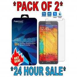 2 PACK PREMIUM TEMPERED GLASS SCREEN PROTECTOR FOR SAMSUNG GALAXY NOTE 3 N9000