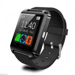 Black Bluetooth Smart Wrist Watch Phone Mate For Android IOS Samsung iPhone LG
