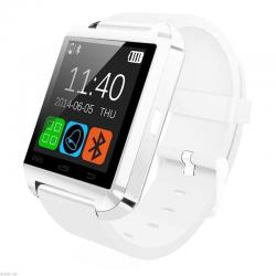 White Bluetooth Smart Wrist Watch Phone Mate For Android IOS Samsung iPhone LG