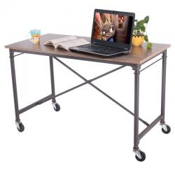 Computer Desk Laptop Writing Table Melamine Surface Wheels Home Office Furniture