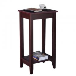 COSTWAY Tall End Table Coffee Stand Night Side Nightstand Accent Furniture Brown