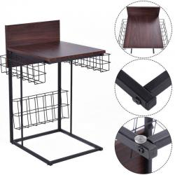 New Sofa Side Table Living Room Home Furniture Decor with Storage Basket