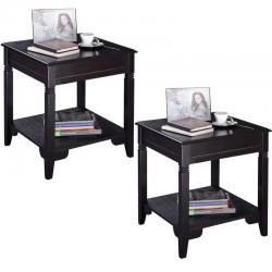 2PCS Nolan End Table Durable Quality Furniture Shelf Decor Home Living Room New