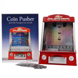Coin Pusher Machine Arcade Game Battery Operated Music Flashlight Voice New