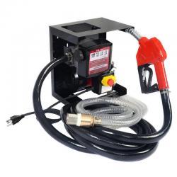 New Electric Diesel Oil Transfer Pump 110V Fuel Manual Nozzle Hose w/ Meter