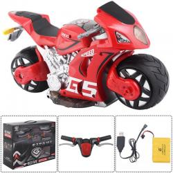 1/8 Scale 2.4G 4D R/C Simulation Remote Control Drift Motorcycle Kids Toys Red