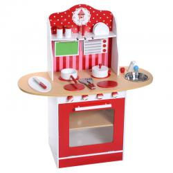 Kids Wood Kitchen Toy Cooking Pretend Play Set Toddler Wooden Playset Gift New