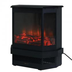 """Free Standing 23"""" Electric Fireplace 1500W Adjustable Heater Fire Tempered Glass"""
