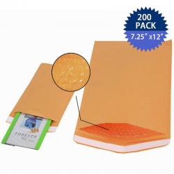 200 #1 (7.25x12) KRAFT Bubble Mailers Padded Envelopes Shipping Bags New