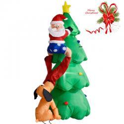 Si buscas 6 FT Airblown Inflatable Christmas Tree Santa Decor Lighted Lawn Yard Outdoor puedes comprarlo con MILOFERTAS_UY está en venta al mejor precio
