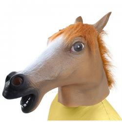 Creepy Halloween Latex Rubber Horse Mask Head for Party Theater Gangnam Style