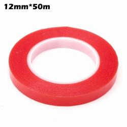 Red 12mm 50m Double Sided 3M Sticky Adhesive Tape Cell Phone LCD Screen Repair