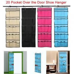If you are looking 20 Pocket Over the Door Shoe Organizer Rack Hanging Storage Space Saver Hanger you can buy to redtagtown, It is on sale at the best price