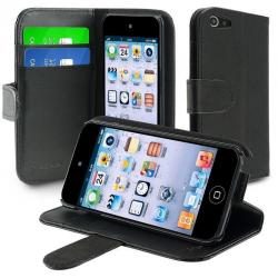 If you are looking For iPod Touch 5 5th 6 5G Gen Leather Wallet Skin Cover Case w/Card Holder Black You can buy it now, it is for sale United States