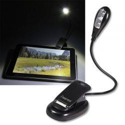 New Flexible Clip On LED Light Lamp For Book Reading Tablet Laptop PC eReader