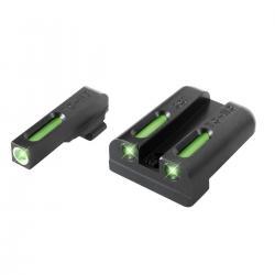 Truglo Brite Site TFX Tritium Fiber Optic Xtreme Handgun Sight, S&W M&P TG13MP1A