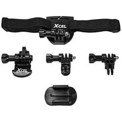 Spypoint XCel Action Cam Camera Helmet Mounting Kit, Black - XHD-HK