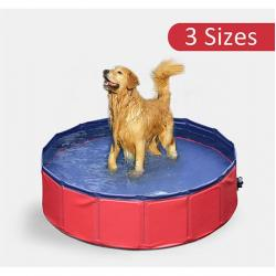 Home Outdoor Folding Pet Pool Swimming Cat Dog Cooling Portable Tough 3 Sizes