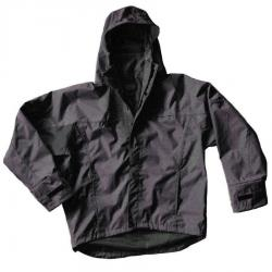 Dutch Harbor Gear TY601 Typhoon Black Hi-Vis Waterproof Rain Jacket, Large