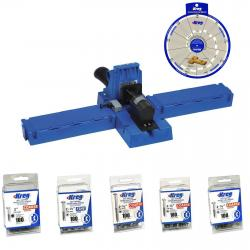 If you are looking Kreg Jig K5 Pocket Hole System, (500) Assorted Screws, SSW Screw Selector Wheel you can buy to hardware_sales, It is on sale at the best price