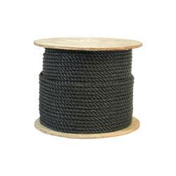 Si buscas CWC 301090 1/2 Inch Twisted Polypropylene Black Rope 600 Feet Long puedes comprarlo con MATERIALESGUTI está en venta al mejor precio