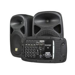 If you are looking Monoprice 130-Watt 8-channel PA System with Two 10-inch speakers you can buy to monoprice, It is on sale at the best price