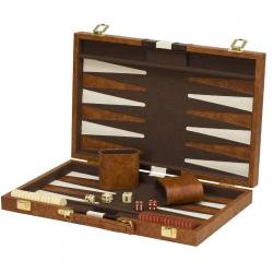 """If you are looking 18""""x22"""" Backgammon Set Brown White Faux Leather Portable Travel Folding Case NEW you can buy to 1st_web_sales, It is on sale at the best price"""