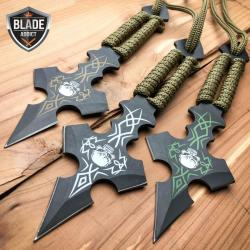 """Si buscas 3PC 6.5"""" Ninja Tactical Skull CROSS Combat Naruto Kunai Throwing Knife Set NEW puedes comprarlo con BODECOR está en venta al mejor precio"""