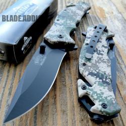 Si buscas Ballistic Camo Combat Tactical Spring Assisted Open Rescue Pocket Knife EDC puedes comprarlo con MUNDODVIDEOJUEGO2 está en venta al mejor precio