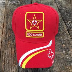 If you are looking GOD'S ARMY Christian Cap Religious Baseball Hat NEW CROSS HT-769 RED you can buy to kyknives, It is on sale at the best price