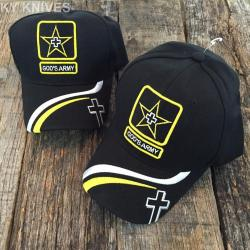 If you are looking 2 LOT WHOLESALE GOD'S ARMY Christian Cap Religious Baseball Hat HT-769 BLACK-2 you can buy to kyknives, It is on sale at the best price