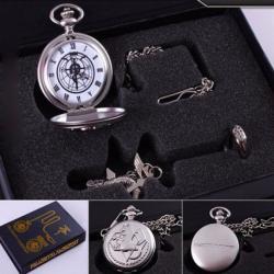 Reloj Oliadesign De Bolsillo Collar Y Anillo Anime