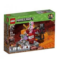 Si buscas Lego Minecraft 21139 The Nether Fight Building Kit 84 Piezas puedes comprarlo con Deportronics está en venta al mejor precio