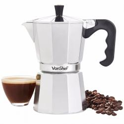 Si buscas Cafetera Italiana Vonshef 6 Tazas Espresso Coffe puedes comprarlo con Deportronics está en venta al mejor precio