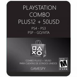 Combo Psn Plus 12meses + Psn50 Usa| Inmediato Gamespy