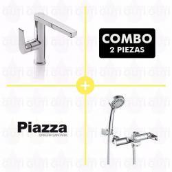 Si buscas Combo Set Grifería Baño Piazza Next Lavatorio Y Ducha Ext puedes comprarlo con MATERIALESGUTI está en venta al mejor precio