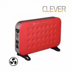 Calefactor Electrico Conveccion Clever Rojo 2000rf Forzador