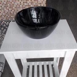 Si buscas Bacha De Apoyo Apoyar De Losa Para Baño Negro puedes comprarlo con QUIBAM_YBH está en venta al mejor precio