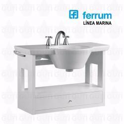 Si buscas Vanitory Baño Ferrum Marina Colgante Blanco Bacha 65 Cm puedes comprarlo con GARUMI está en venta al mejor precio