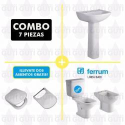 Si buscas Juego Sanitarios Ferrum Bari Dual Baño Tapas Originales puedes comprarlo con GARUMI está en venta al mejor precio