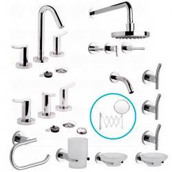 Si buscas Juego Baño Completo Griferias Fv Libby Accesorios 7 Piezas puedes  comprarlo con GARUMI está c2075b646a03